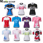 WEIMOSTAR Women's Cycling  Short Sleeve Top Jersey Racing Clothing Sports Wear