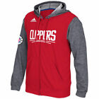 Los Angeles Clippers Adidas Men's Red Pre-Game Full Zip Hooded Sweatshirt on eBay