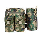 Men Military Molle Waist Bag Pack with Bottle Pouch Tactical Outdoor Hiking