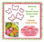 Butterfly or blossom flower cookie cutter sets -CHOOSE YOUR STYLE- cake fondant