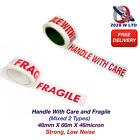 PRINTED FRAGILE & HANDLE WITH CARE (MIXED) - 48mm*66m*46mic