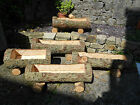 Rustic Chainsaw Carved WOOD Natural Garden Log Planter Trough Tree Trunk Trough