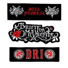 Ebroidered Iron On Patch   BULLET FOR MY VALENTINE, DRI,DARK FUNERAL NEW PATCHES