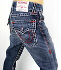 True Religion $350 Men's Hand Picked Straight Red Super T Jeans - MNR859VA5