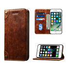Luxury Retro Leather Flip Wallet Card Holder Stand Case Cover For iPhone7 Plus 7