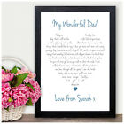 Personalised Love Heart Keepsake Poem Father of the Bride Thank You Gifts Favour