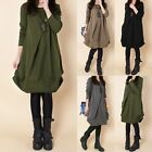 2017 Oversized Womens Winter Autumn Casual Loose Pullover Tops Retro Short Dress