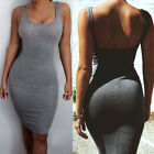 Women's Summer Bandage Bodycon Backless Evening Party Cocktail Club Mini Dress
