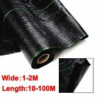 1-2M 100GSM Heavy Duty Weed Control Fabric Ground Cover Mulch Membrane Mat
