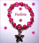 PERSONALIZED NAME REBORN BRACELET BLUE GREEN RED PINK YELLOW LAVENDER FUCHSIA
