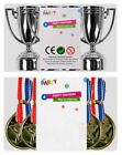 Silver Party Trophy & Gold Medals Novelty Games Parties Kids Children Favour Bag