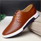 2017 New Merkmak Men Casual Shoes Leather Summer Breathable Holes Flat Shoes