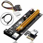 Lot BTC USB 3.0 PCI-E Express 1x To 16x Extender Riser Card Adapter Power Cable