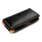 Leather Cell Phone iPhone Horizontal Carrying Pouch Case Cover Belt Clip Holster