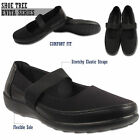 Womens Stretch Elastic Strap Work Shoes Comfort Girls School Shoes Ladies Size