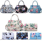 Women Birds Floral Handbag Purse Satchel Wallet Tote Shoulder Bag