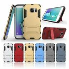 Hybrid Armor Stand Dual Shield ShockProof Defender Case Samsung Galaxy S6 Edge