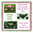 MINIATURE Fairy Garden table & chairs setting - CHOOSE YOUR STYLE - hand-made