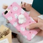 Pink Phone Case for iPhone 6 6s 7 Plus 3D Cute Soft Rabbit Slim Hard PC Cover