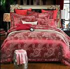 Europe Luxury Set Floral Satin Bedding Quilt Cover Coverlet Sheet Pillowcase 4pc