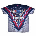 Men's New England Patriots Football Tie-Dye T-Shirt Official NFL Tee M L XL 2XL