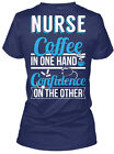 tim horton coffee online - Online Sale Exclusive! - Nurse Coffee In One Hand Confidence Women's V-Neck Tee
