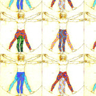 Yoga Yoga Pose Davinci Running Fabric Printed by Spoonflower BTY
