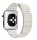 Compatible For Apple Watch 42mm/38mm Leather Loop Wrist band White