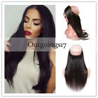 360 Lace Band Frontal Closure Virgin Human Hair Pre Plucked With Baby Hair