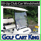 Club Car DS Tinted Clear golf cart Windshield '00.5 Up Folding Acrylic Old Style
