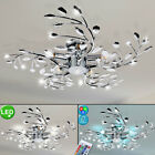 LED Ceiling Light RGB Remote dining living room petals chrome lamp dimmable new