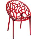 Crystal Polycarbonate Plastic Chair - Outdoor and Indoor - Commercial Grade Seat