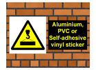1022 Overhead crane sign 2 weatherproof Aluminium Plaque PVC or Vinyl Sticker