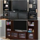 Home Entertainment Center TV stand w 2 side bookcases towers media storage NEW