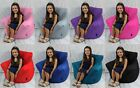Children's Large Cotton Drill Bean Bag Chairs Seats In Red, Teal & Blue