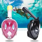 Full Face Surface Snorkeling Snorkel Diving Breath Swimming Mask Scuba for GoPro