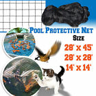 Pool Netting Pond Protective Floating Net 14x14' 28x28' 28x45' Tub Mesh Cover