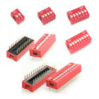 10pcs 2.54mm Pitch Switch Ways Slide Type DIP 2 4 6 8 10 12 Bit