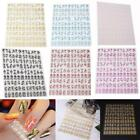 Fashion Professional Women Lady 108pcs 3D Nail Art Stickers Decals DIY Decor