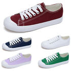 Womens Lace up Sneakers athelic Canvas Low top Student Sports Flats Shoes