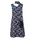 Casamia Reversible Scoop Neck Dress with Scarf