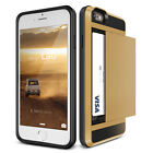 Luxury Hybrid Rubber PC Card Pouch Heavy Case Cover For iPhone 5 S SE 6 S 7 Plus