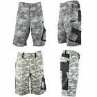 Mens Army Combat Camouflage Work Shorts Multi Pocket Cargo Military Camo Pants