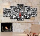 "Large Michael Jordan 5 Piece ""Last Shot 3.2"" 1998 Canvas Print Art Home Decor"