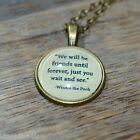 """Winnie the Pooh Quote """"We will be friends ..."""" picture pendant necklace 20mm"""