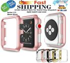 38/42mm Protective Case Cover For Apple Watch iWatch PC Hard Thin Metal Plated