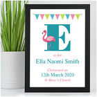 Personalised Baby Name Gift - Baby Girl Goddaughter Christening Nursery Gift