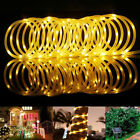 5M 100 LED Solar Strip Light Outdoor Garden Decor Lawn Tree Christmas Party Lamp
