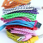 3 Metre 10 ft microUSB Braided Fabric Charger Cable For Samsung Nokia LG