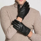 62053 Men's Real Leather Touchscreen Ski Gloves Winter Warm Driving  Outdoor